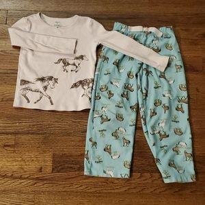 Carters pajama set with horses